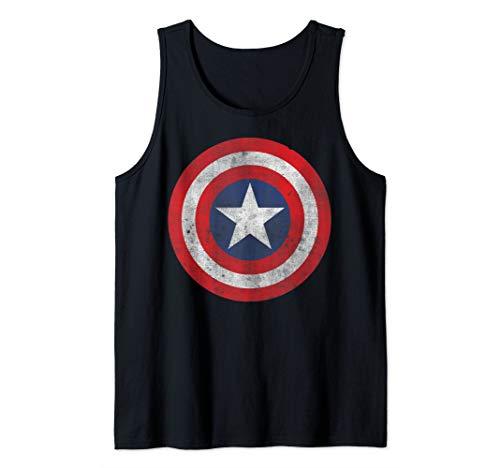 Marvel Captain America Classic Shield Portrait Tank Top