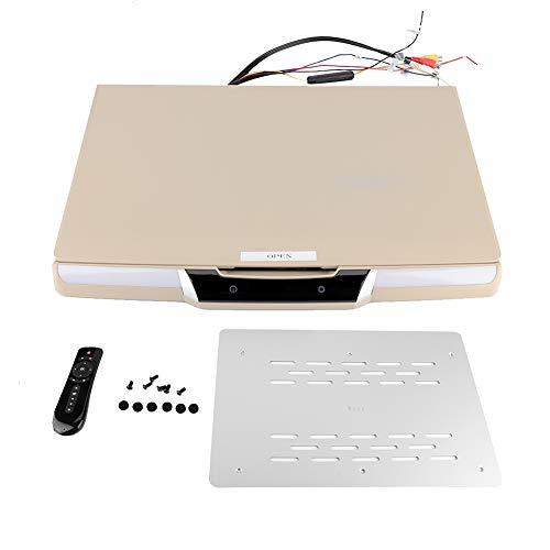 Bicaquu Reproductor MP5 de 17.3 Pulgadas, TV Universal montada en el Techo TV 1080p Bluetooth Reproductor MP5 de TV para automóvil para Sistema Android 7.1