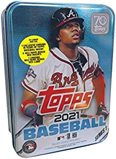 2021 Topps Series 1 MLB Baseball Tin (75 cards/bx, Acuna)