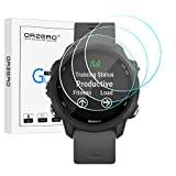 (3 Pack) Orzero Tempered Glass Screen Protector Compatible for Garmin Forerunner 245, 9 Hardness HD (Lifetime Replacement)