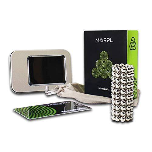 MARPL® MagBallz - 100 Stück Neodym Magnetkugeln Nickel 5mm - extra Starke Anti Stress Magnetic Balls als Büro Gadget und für Magnettafeln