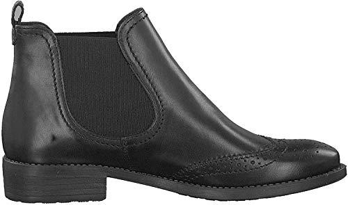 Tamaris Damen Chelsea Boots Schwarz, Schuhgröße:EUR 38