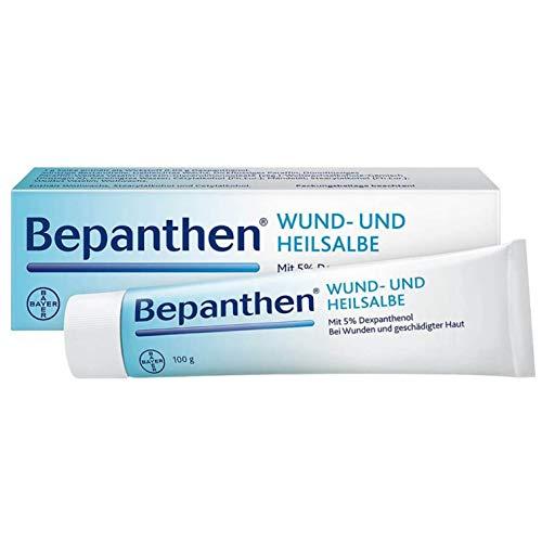 Bepanthen Wund- und Heilsalbe, unterstützt die Heilung bei kleinen, oberflächlichen Wunden und schuppig-rissigen Hautstellen, 100 g