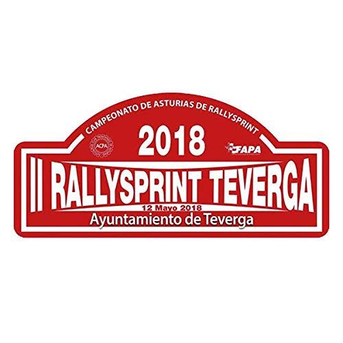 Pegatina Placa RALLYSPRINT TEVERGA 2018 PR97
