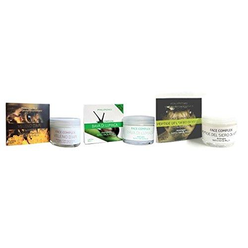 Kit 3 creme antirughe FACE COMPLEX : 1 crema al veleno d'ape + 1 crema alla bava di lumaca+ 1 crema...