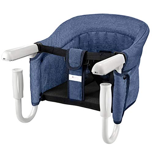 ANTEN Hook On Table Chair, Clip on Table High Chair for Babies and Toddlers, Removable Seat Cushion, Fast Hook On Table Without Leaving Scratches (Blue)