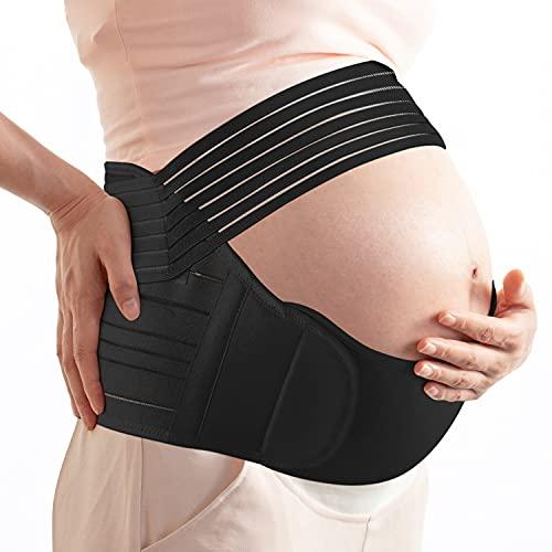 XIAPAI Faja Embarazada, Cinturón Apoyo Embarazada, Cinturón de Embarazo, Premamá Banda para Apoyo Abdominal y Lumbar para Mujeres Embarazadas