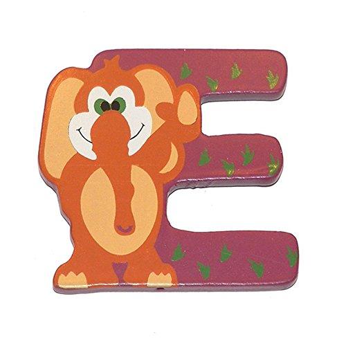 Lettera Decorativa per Nomi Bambini nella stanzetta con Animali Lettera E