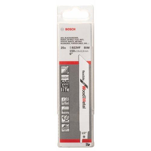 Bosch 2608657558 Lot de 25 lames pour scie sabre S 922 VF