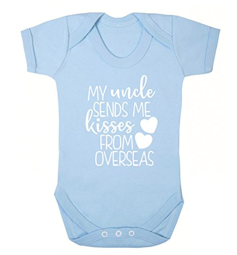 Flox Creative Baby Vest My Uncle Sends me Kisses from Overseas - Bleu - XL