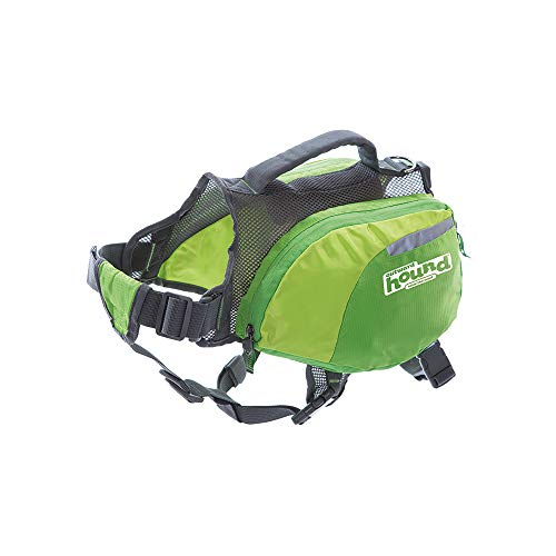 Outward Hound DayPak Green Dog Saddleback Backpack, Large