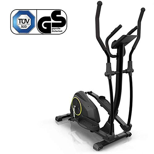 Klarfit Epsylon Cross AS Crosstrainer • Crosswalker • Volano 12 kg • 24 Gradini • Cardiofrequenzimetro • Supporto per Tablet • Max. 120 kg • Nero