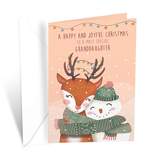Prime Greetings Christmas Card For Granddaughter