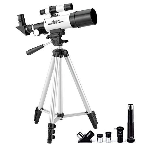天体望遠鏡 セット 高倍率 15倍-225倍 50mm 4段三脚スタンド付 ガイドブック付属 [最大倍率225倍!コンパクト設計] 土星 軽量 コンパクト 初心者 子供 天体観測 g004