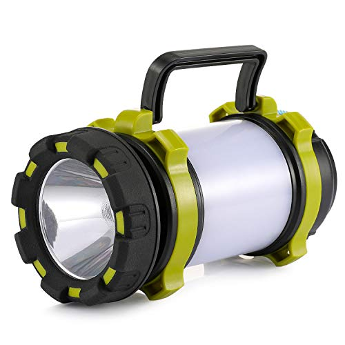 Consciot Rechargeable Camping Lantern Flashlight LED with 6 Modes 3600mAh Power Bank IPX4 Waterproof Two Way Hook Portable with USB Cable for Emergency Camping Hiking Outdoor Activities