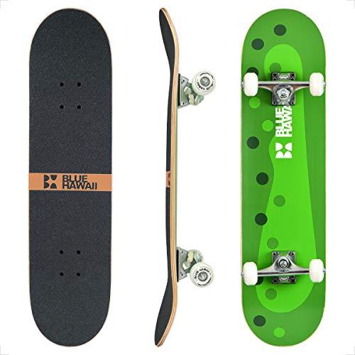 BLUE HAWAII Skateboard 78.7 x 20.3 cm Komplette Cruiser Skateboard, 7-lagigem Hochdichtes Ahornholz Deck mit ABEC-9 Kugellager, für Kinder, Jugendliche und Erwachsene (Funny-Pickle)
