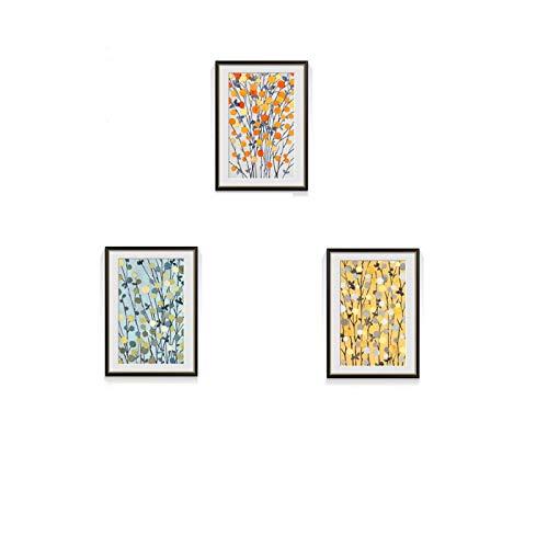 "Arte de Pared Abstracto Temporada de Cosecha de Frutas y Verduras Decoración en Lienzo Póster HD Impresión para decoración de Pared Moderna Sin Marco 16 ""x20"" (40x50cm) × 3"