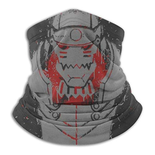 Nanobibi Fullmetal Alchemist Stencil Unisex Microfibra Cuello Calentador Mas-k Pañuelos al aire libre Multifuncional Bufanda Cuello Polaina Pasamontañas