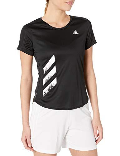 adidas Run It T-Shirt pour Femme Motif 3 Bandes XL Noir/Blanc