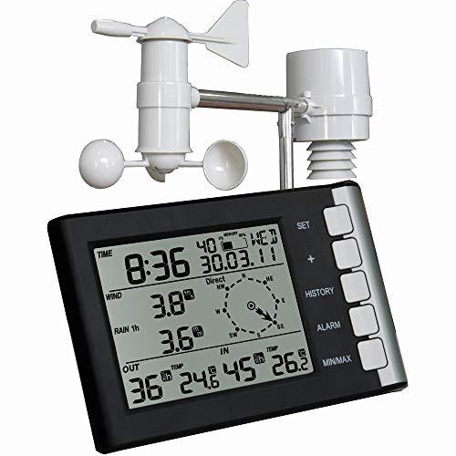 JAYLONG trådlös väderstation och sensor för inomhus/utomhus, luftfuktighet, tryck, soluppgång och solnedgång