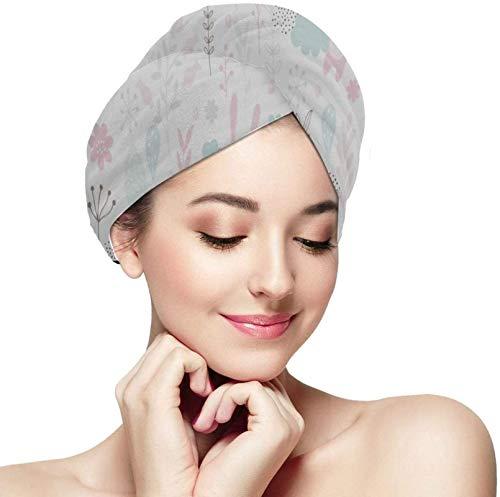Toalla seca súper absorbente de cinturón de fibra Cabello de pelo seco Lindo Conejito y toallas de la luna Toallas de la luna Wrap de la toalla de la toalla absorbente suave del cabello Rápidamente Se