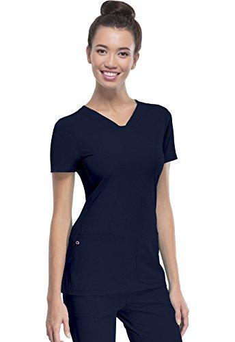 HeartSoul Women's Pitter-Pat V-Neck Scrubs Shirt,...