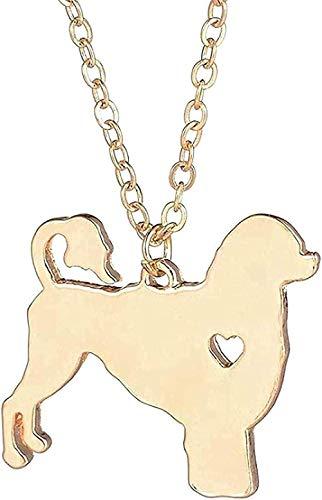 Collar de 1 Pieza, Colgante de Perro de Agua portugués, Colgante de Plata para Mascotas, Collar adoptado para Amantes, Regalo para Mujeres y Hombres
