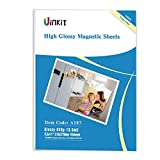 Magnetic Photo Paper 8.5X11 Glossy -10 Sheets pack 13.5mil 650gsm Uinkit fridge Inkjet Photographic Paper (8.5X11X10)