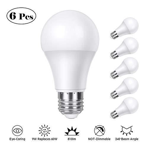 Bombilla LED E27, TASMOR Bombillas LED Luz Blanca Cálida,