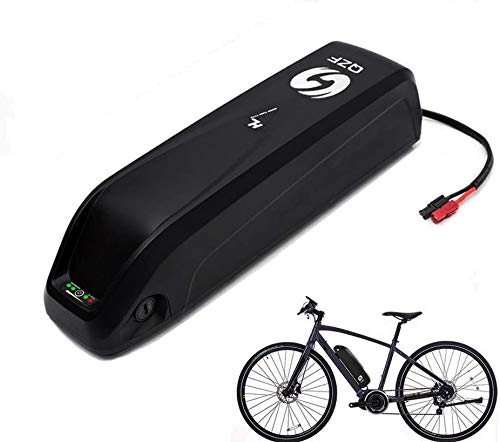QZF Electric Bike Battery - 48V 10AH E-Bike Battery - Adult E-Bike Battery - Electric Bicycle Battery - Lithium Li-ion Battery with Charger for 1000W 750W 500W Bike Motor