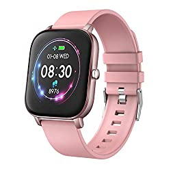YoYoFit Newest 1.4 Full Touch Screen Smart Watch Heart Rate Blood Pressure Sleep Monitor Fitness Activity Tracker Watch, Waterproof Fitness Smartwatch Compatible with iOS Android for Women Men
