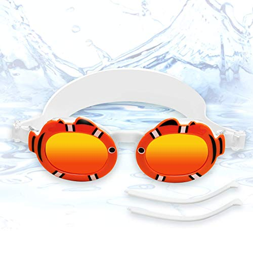 Funní Día Gafas de natación Gafas Natacion para niños y gafas de sol polarizadas, antivaho, gafas de natación con protección UV Gafas Natacion para niños MM-9901A