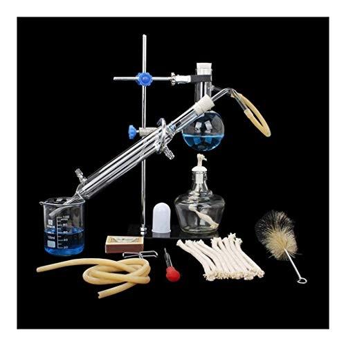 Distillatore di vetro per laboratorio, scienza industriale, purificazione di rugio, produzione di oli essenziali, alcool, filtro dell'acqua distillata, attrezzatura da laboratorio.