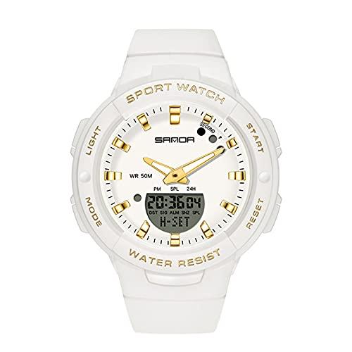 Relojes Deportivos al Aire Libre, Reloj Cronógrafo Impermeable Moda Reloj Casual con Timing Modo Alarma Soporte Dual Zona Horaria Pantalla, para Estudiantes Hombre,Set6