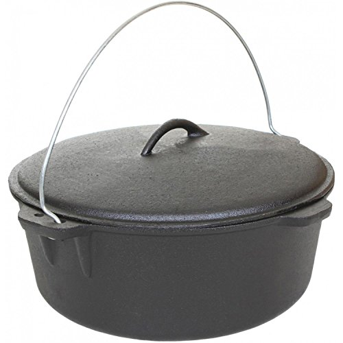 Cajun Classic 16-Quart Seasoned Cast Iron Dutch Oven - GL10490S