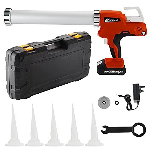 Cordless Caulking Gun 20V Li-ion Cartridge Sausage Caulk Gun, Sealant Adhesive Gun, Auto-Retract Anti-drip Feature