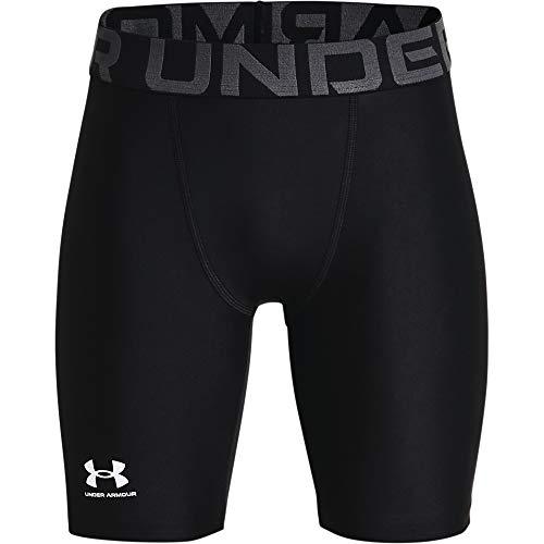 Under Armour UA HG Armour Shorts pantalón Corto, Negro (Black/White), L para Hombre