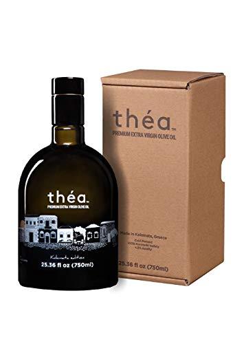 théa Premium Greek Extra Virgin Olive Oil (750ml) I NEW Harvest 2020/2021 I Koroneiki Variety I First Cold Pressed I Low Acidity I Unblended I Handpicked & Harvested in Kalamata, Greece