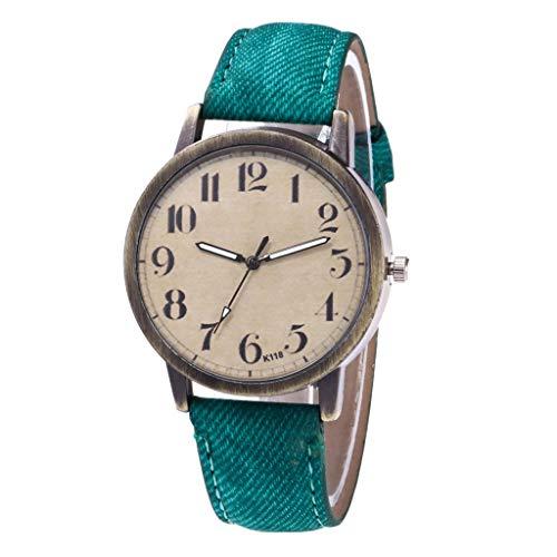 Uhren Damen Quarzuhr,Luotuo Mode Frauen Armbanduhr Sportuhr Retro Ø40mm Ultradünn Zifferblatt und...