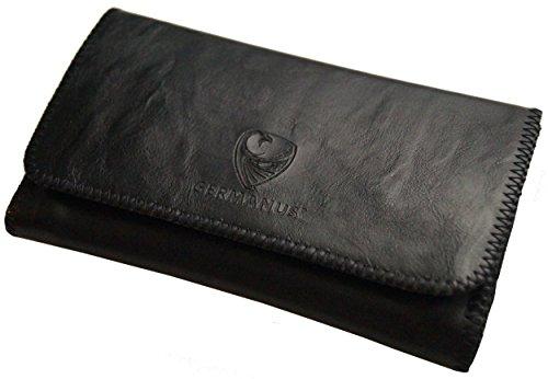 GERMANUS Porta tabacco – Senza pelle – Made in EU – Pocket Mavros – Borsa girevole per tabacco