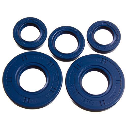LYO Set: Wellendichtringe Motor kpl, blau, Doppellippe - Simson S50, KR51/1 Schwalbe, SR4-2 Star, SR4-3 Sperber, SR4-4 Habicht