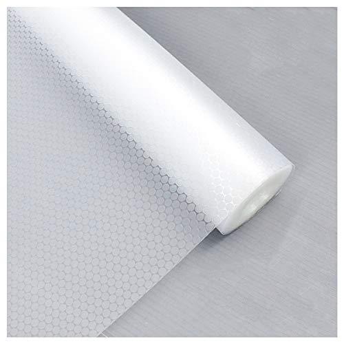 LOKIH Plastico Protector para Cocina Cajones Alfombras Non Adhesivo para Nevera Mueble Fregadero Estante Organizador Cubiertos EVA Cubre Encimera,Transparente,35x300cm