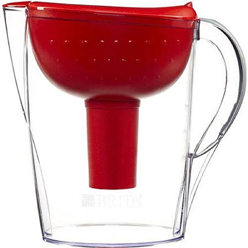 Brita Pacifica 10 Cup Water Filter Pitcher (Red)