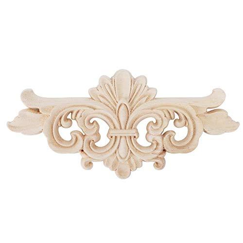 Oumefar Puerta de la Sala de Estar del Hotel de la Etiqueta de la Talla de la Esquina del Estilo Europeo Decorativo 2pcs para la Oficina en casa(16 * 7.5CM)
