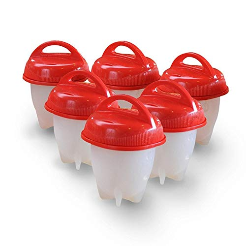 6 Stück/Set Silikon Eier Wilderer Eierkocher Antihaft gekochte Eier Tasse Küchenhelfer Backzubehör Form-6 Stück