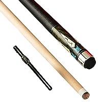 YJTQG 1/2プールキュー、58インチ19-21オズメープルウッドビリヤードプールキュー、13mmキューチップ付き、ホームスクールクラブ用/B/Pole bag
