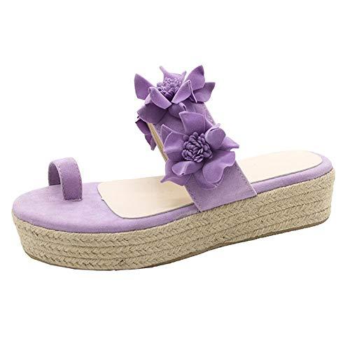 XXD Ladies Casual Sandalias de Verano Zapatos de Playa con Fondo de Clip Sandalias de Tacón de Cuña antideslizante