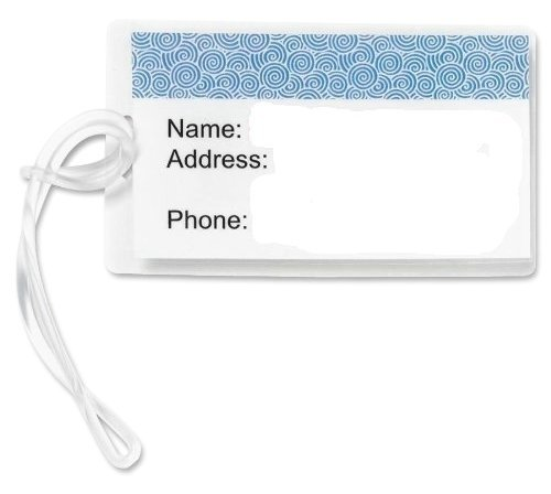GYBest Best 100-Pack 6'' Clear Plastic Luggage Tag Loops