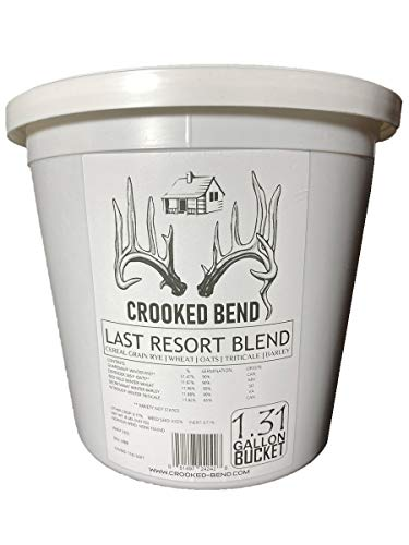 Crooked Bend 8lb Whitetail Deer Food Plot Seed   Cereal Grain Rye Wheat Triticale Barley Oats   Last Resort Blend