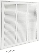 EZ-FLO 61656, White Return Air Filter Grille, 18 inch x 18 inch Opening, 18